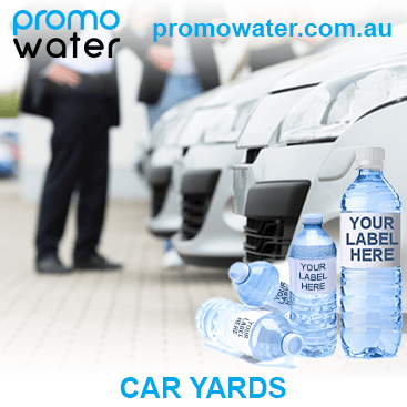Private label water bottles for car yards