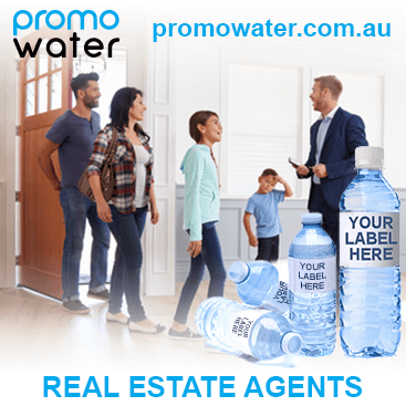 Private label water bottles for real estate agents