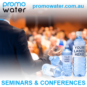 Private label water bottles for seminars & conferences